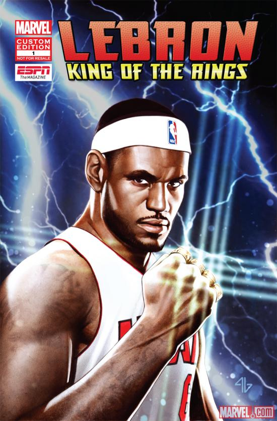 LeBron: King of the Rings cover by Adi Granov
