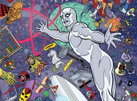 Silver Surfer #1 cover by Mike & Laura Allred