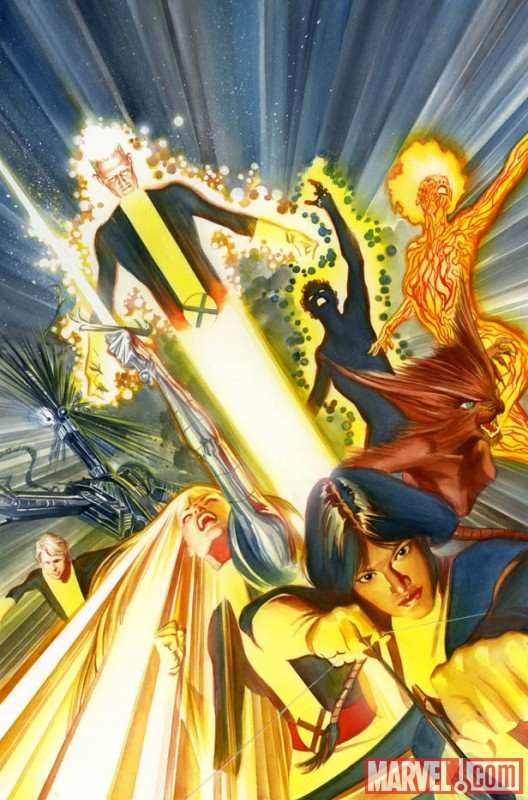 NEW MUTANTS #1 (2009) cover by Alex Ross