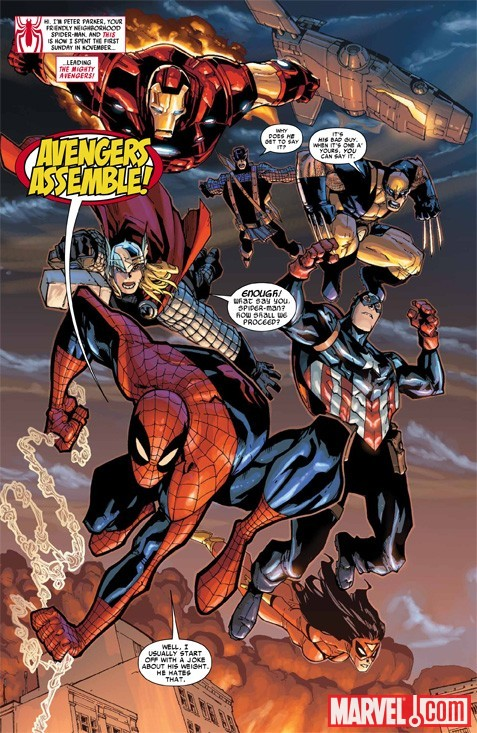 Image Featuring Spider-Man, Thor, Wolverine, The Winter Soldier, Avengers, Hawkeye