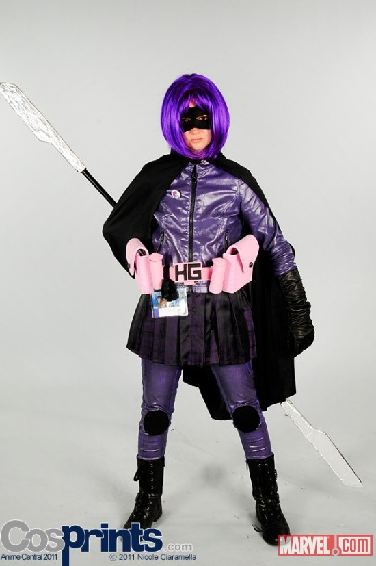 AnimeCentral 2011: Hit Girl Cosplayer (character owned by mark millar and john romita jr)