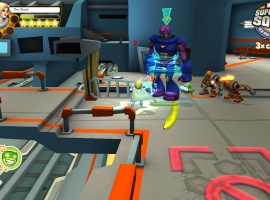 Screenshot of Emma Frost from Super Hero Squad Online
