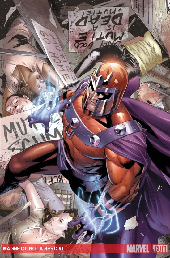 Magneto: Not a Hero #1 Cover Art by Clay Mann