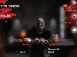 Barracuda's character select screen in The Punisher: No Mercy