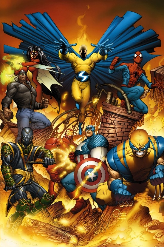 NEW AVENGERS (2007) #1 (JOE QUESADA VARIANT) COVER