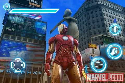 Iron Man in the Iron Man 2 iPhone game
