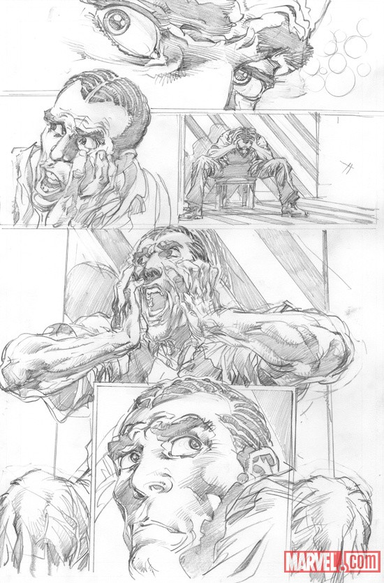 New Avengers #16.1 preview pencils by Neal Adams