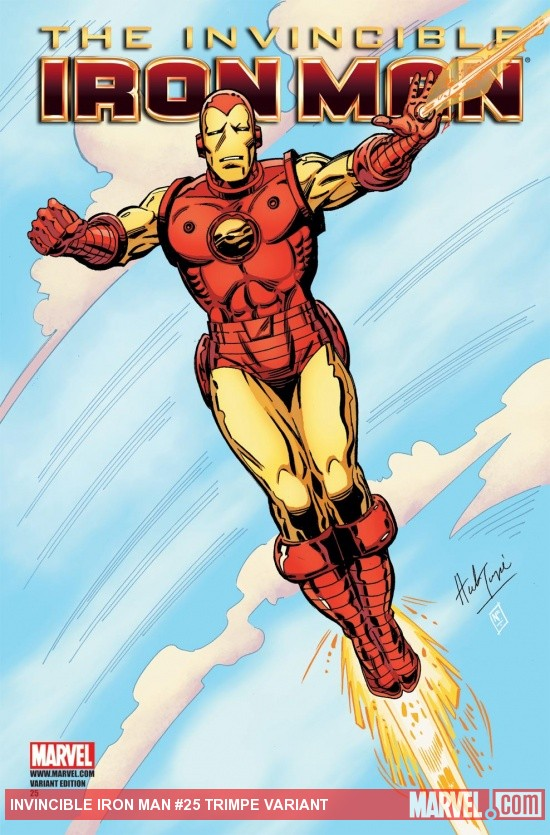 Invincible Iron Man (2008) #25, TRIMPE VARIANT