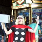 Thor cosplayer at El Capitan Theatre's midnight screening of Marvel's The Avengers