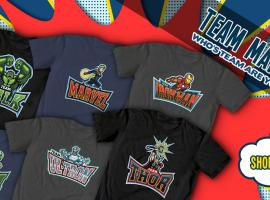 Team Marvel Tees designed by Samuel Ho