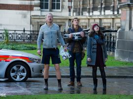 Stellan Skarsgard and Kat Dennings return as Eric Selvig and Darcy in Marvel's Thor: The Dark World