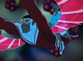 Falcon takes his mom for a flight in Marvel's Avengers Assemble - One Little Thing