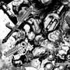 WAR MACHINE #3 black and white preview art by Leonardo Manco