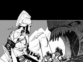 THE SAVAGE AXE OF ARES #1 art by Jefte Palo