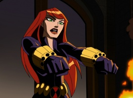 Screenshot of Black Widow from The Avengers: Earth's Mightiest Heroes!