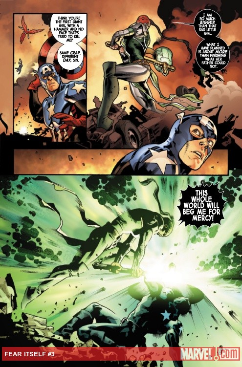Fear Itself #3 art by Stuart Immonen