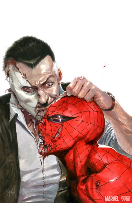 Chameleon vs. Spider-Man by Gabriele Dell'Otto