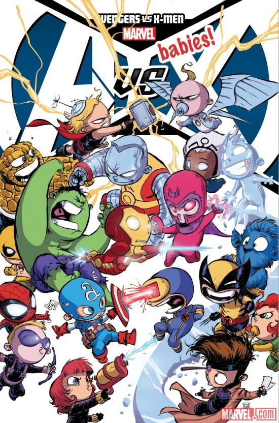 A-Babies vs. X-Babies #1 cover by Skottie Young
