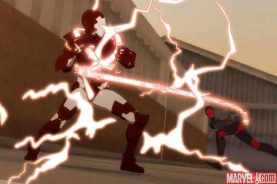 Iron Man and Whiplash In A Heated Battle