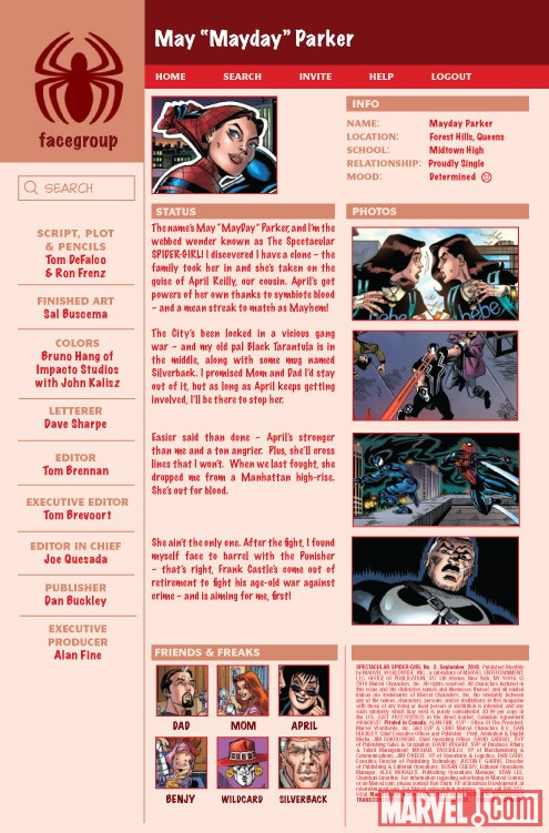 SPECTACULAR SPIDER-GIRL #3 recap page