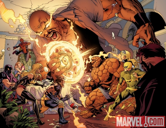 Image Featuring Spider-Man, Thing, Wolverine, Captain Marvel (Carol Danvers), Avengers, Luke Cage