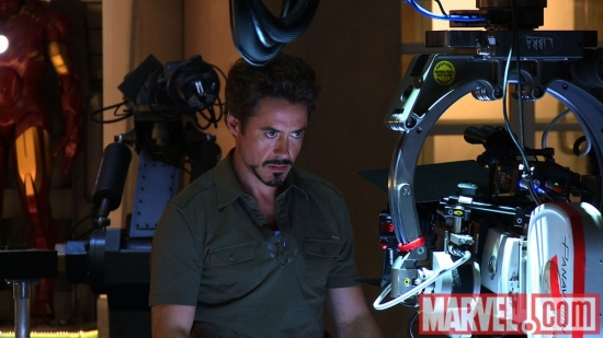 Robert Downey, Jr. behind the scenes from 'Ultimate Iron Man: The Making of 'Iron Man 2''