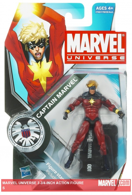 Captain Marvel 3 3/4 Inch Marvel Universe Action Figure from Hasbro, Wave 12