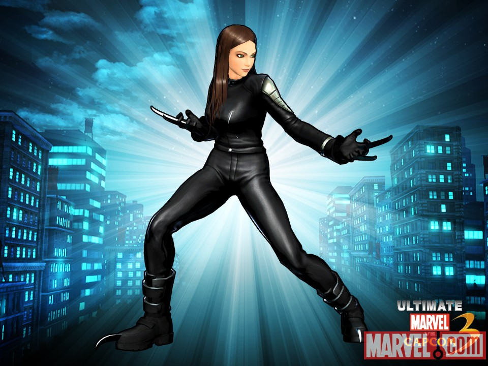 Alternate X-23 skin from the Femme Fatale DLC pack for Ultimate Marvel vs. Capcom 3