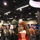 Dr. Doom and Scarlet Witch cosplayers at Wondercon 2012