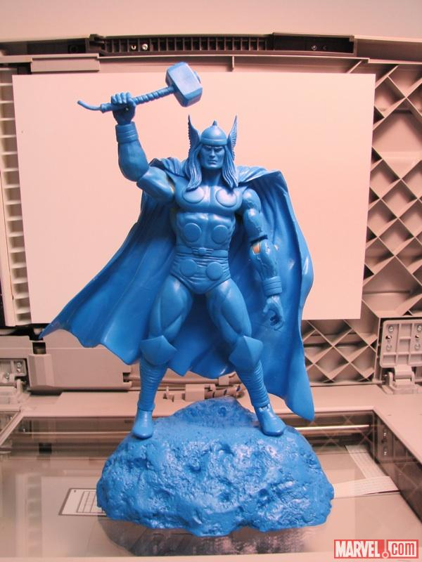 Blue prototype version of Thor from DST