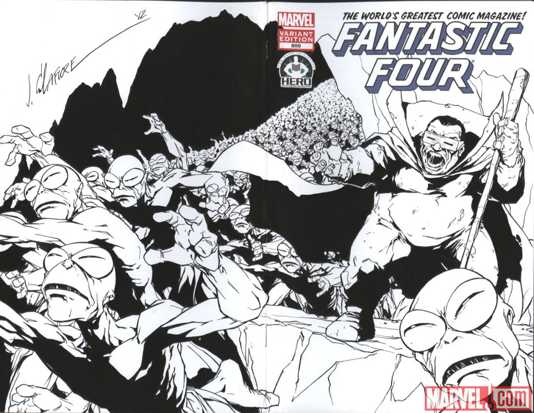 Fantastic Four #600 Hero Initiative variant cover by Jim Calfiore
