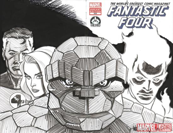 Fantastic Four #600 Hero Initiative variant cover by David Williams