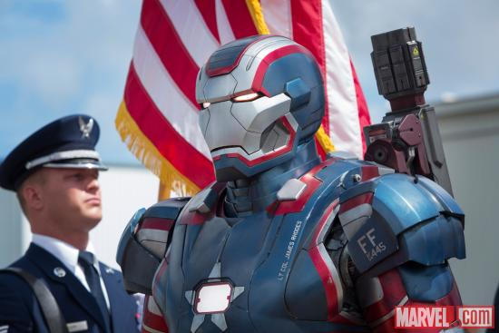 The Iron Patriot armor in Marvel's Iron Man 3