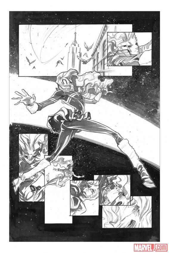 Captain Marvel preview inks by Filipe Andrade