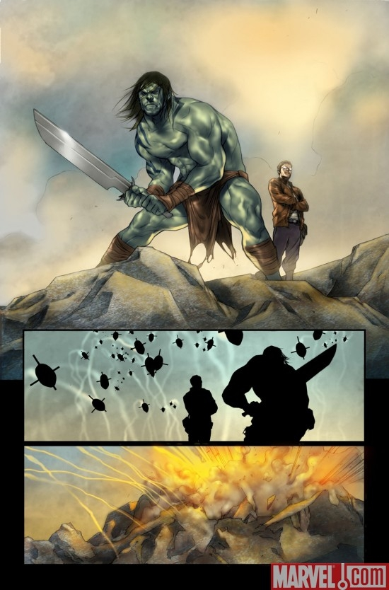 DARK REIGN: THE LIST - HULK preview art by Ben Oliver