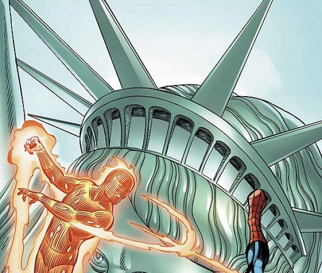 SPIDER-MAN/HUMAN TORCH (2005) #1 COVER