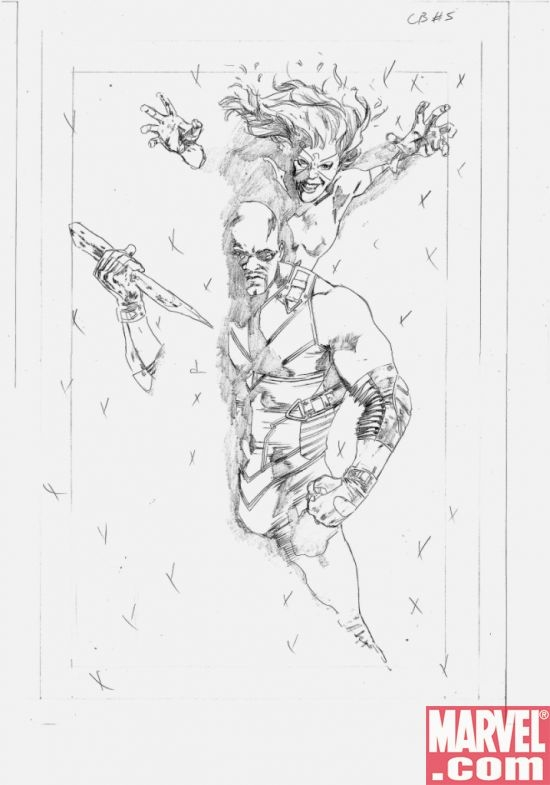 CAPTAIN BRITAIN AND MI 13 #5 cover sketch