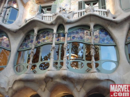 Point of interest: Barcelona's own DR. STRANGE THE OATH artist Marcos Martيn modeled windows and light fixtures in the good doct