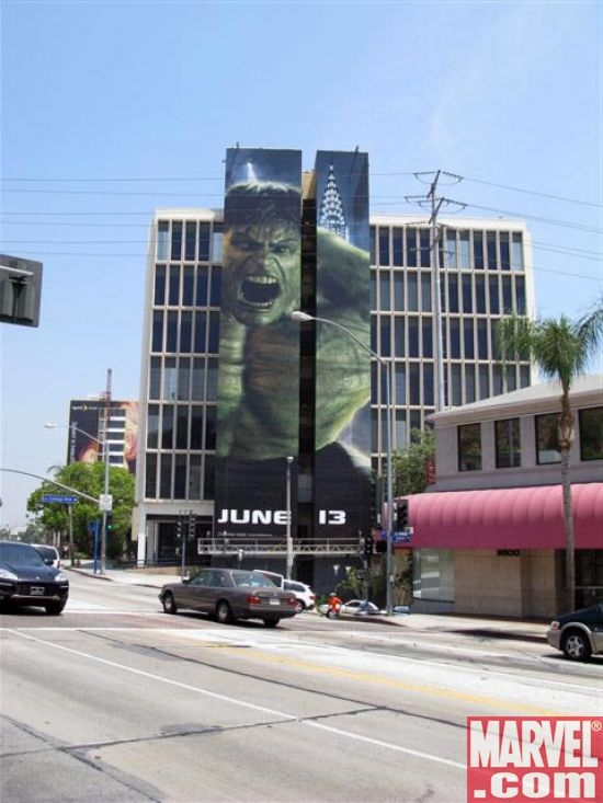 The Hulk building on Sunset Boulevard!
