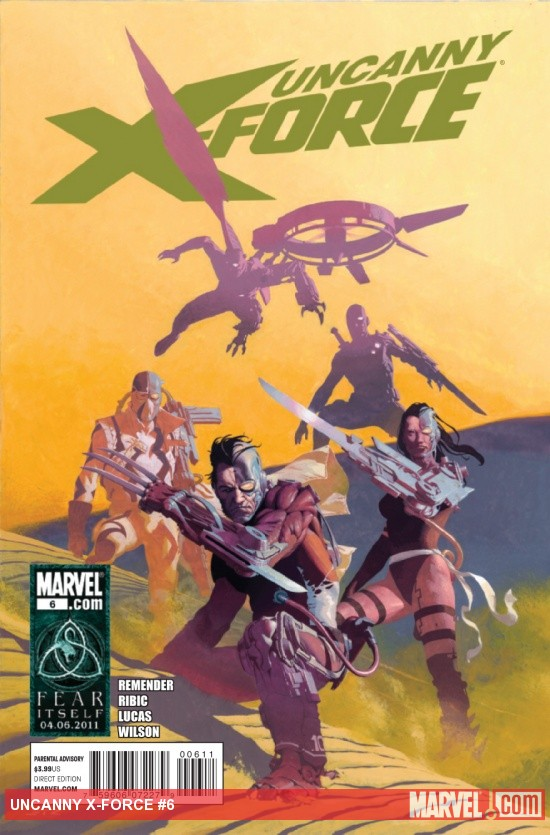 Uncanny X-Force #6 cover by Esad Ribic