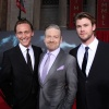 Tom Hiddleston (Loki), director Kenneth Branagh and Chris Hemsworth (Thor) at the U.S. premiere of Thor
