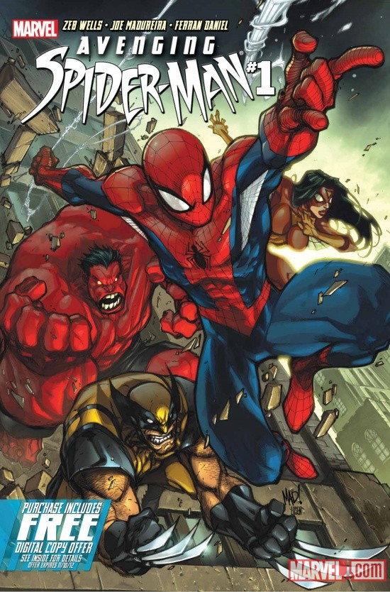 Avenging Spider-Man #1 Cover Art by Joe Madureira