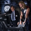 Clark Gregg and Chris Hemsworth star as Phil Coulson and Thor in Marvel's The Avengers