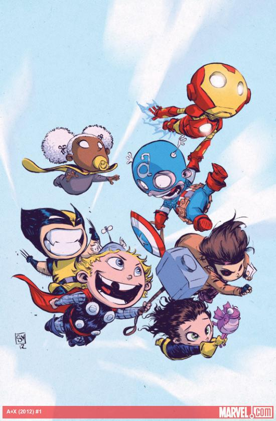 A+X #1 Baby Variant cover by Skottie Young