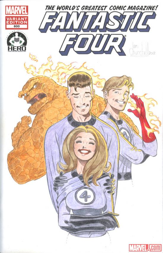 Fantastic Four #600 Hero Initiative variant cover by Ian Churchill