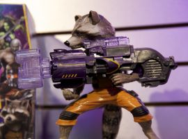 Rocket Raccoon action figure from Hasbro