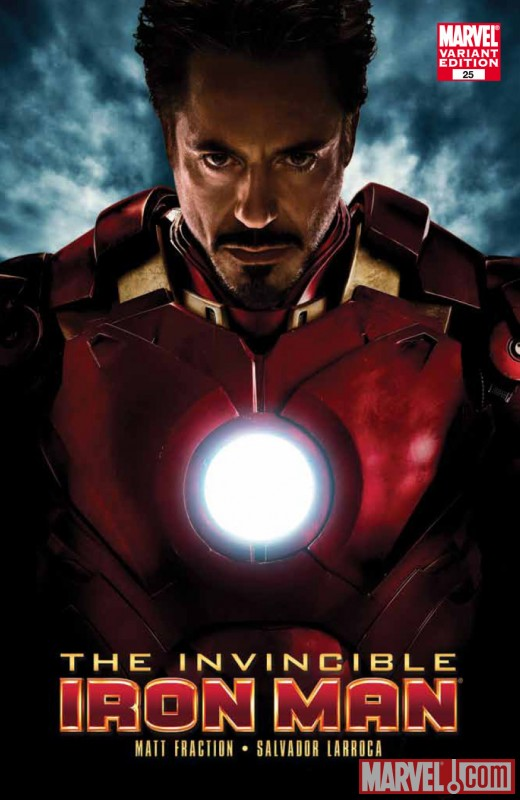INVINCIBLE IRON MAN #25 Iron Man 2 movie variant