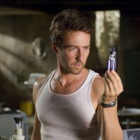 Edward Norton as Dr. Bruce Banner, looking for a cure