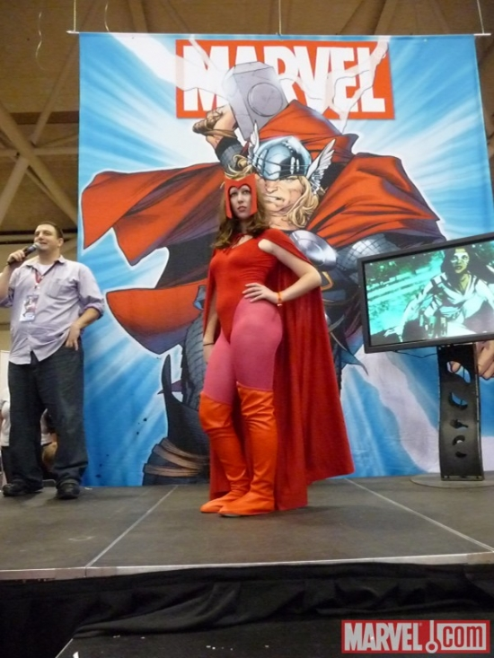 Scarlet Witch cosplayer at Marvel's Fan Expo Canada Costume Contest