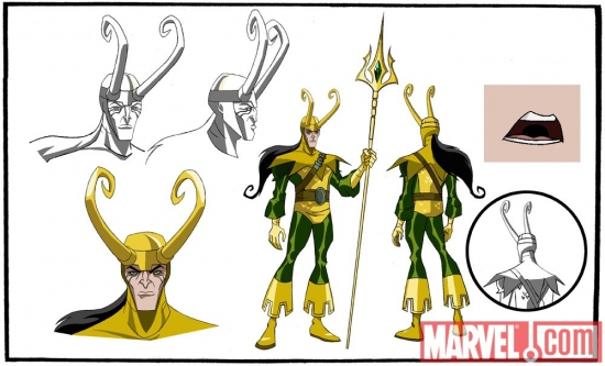 Final color art for Loki from 'The Avengers: Earth's Mightiest Heroes!'